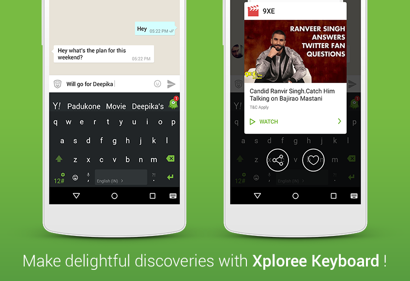 Xploree Keyboard - New Features